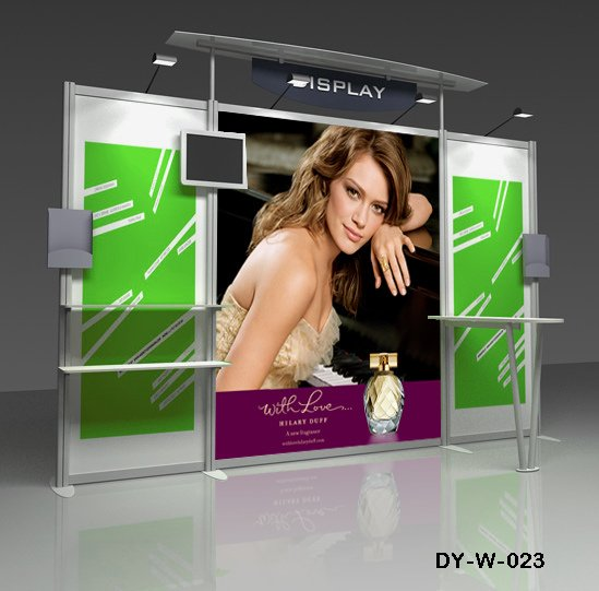 Trade Show Booth Hs Code : Aluminum exhibition stand display booth with brochure boxes and