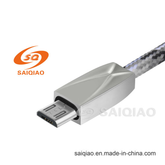The New Zinc Alloy Nylon Braided Mirco-USB Charging Data Cable for Android