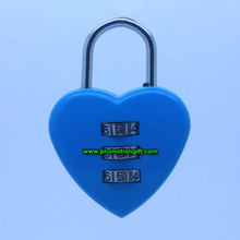 Heart shaped combination lock