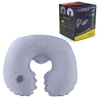 Neck Support U Shape Airplane Pillow Most Popular Inflatable Pillow for Traveling