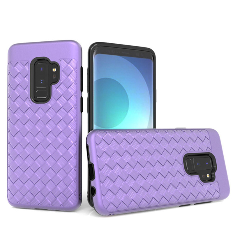 Chinese Style Mobile Phone Case Woven Protective Phone Case for LG Stylo 4/Stylus 4 Shockproof Soft Phone Case