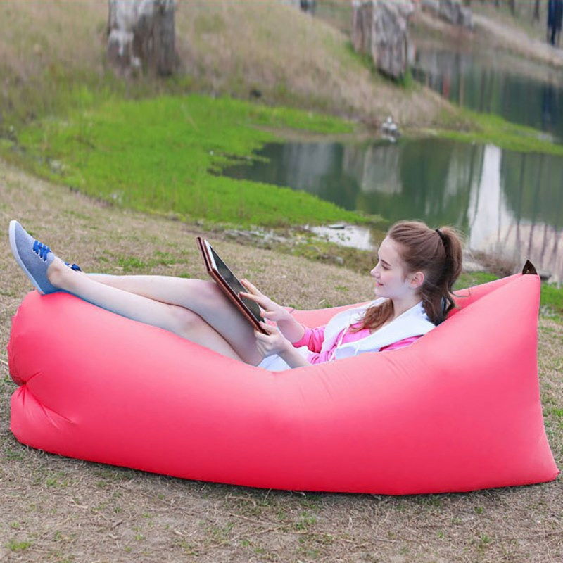 Inflatable Bed for Camping Air Sleeping Bed Outdoor Inflatable Sofa Air Sleeping Bag Beach Lazy Inflatable Bed