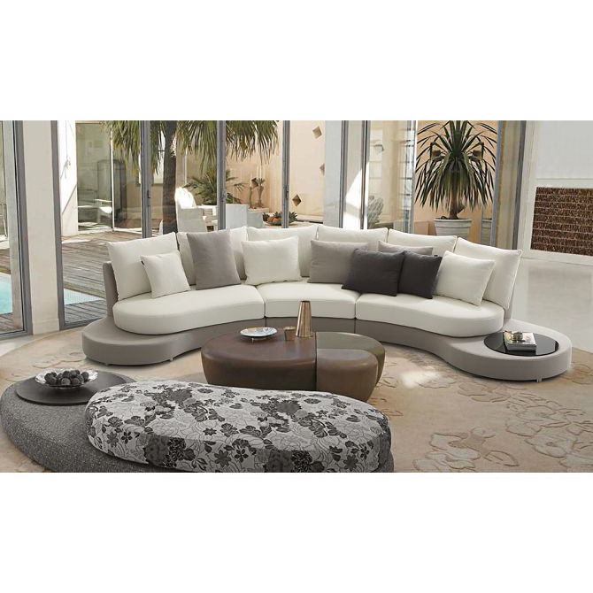 Fancy Semi Circle Fabric Curved Sofa