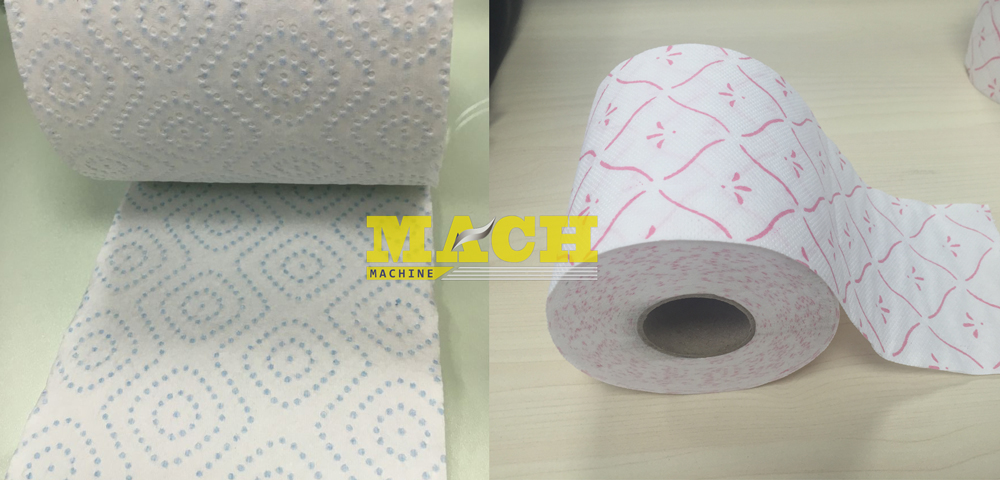 Automatic Toilet Paper & Color Lamination Gluing Kitchen Paper Towel Manufacturing Line