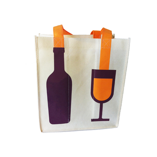 non woven wine bag with interesting design