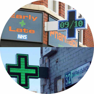 LED Pharmacy Cross Display Sign
