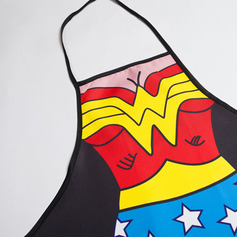 Wonder Woman Apron Home Cooking Aprons Kitchen BBQ Cosplay Party Gifts For Women