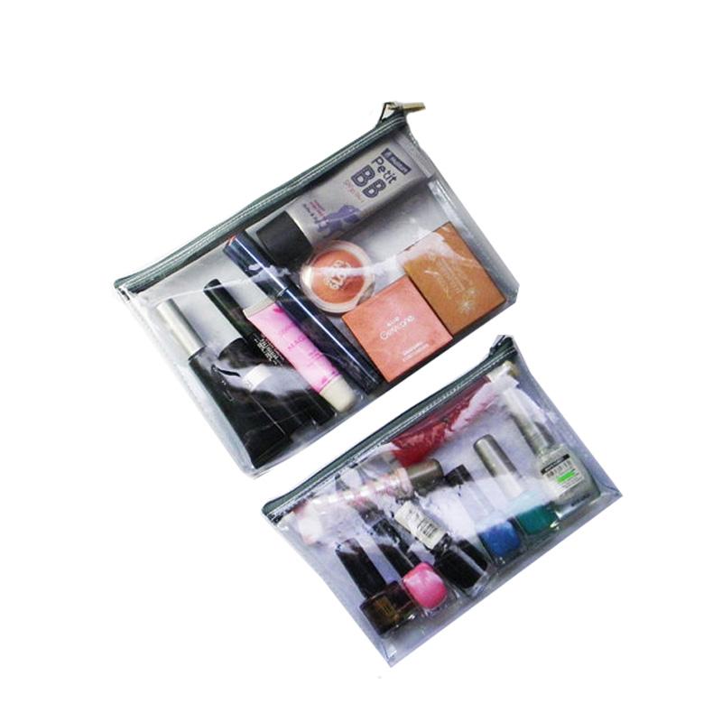 Custom Clear Makeup Bag Zipper Purse