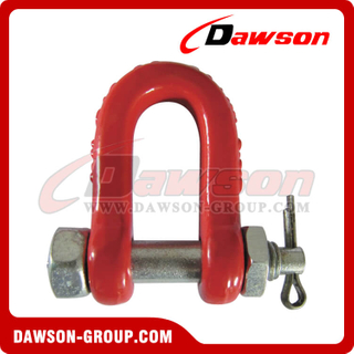 DS049 G80 Tipo de parafuso Dee Shackle, Chain Shackle with Bolt for Lifting
