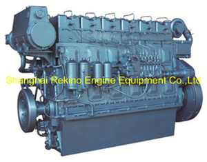 490HP 1200RPM Weichai medium speed marine boat diesel engine (R6160ZC490-2)