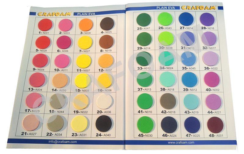 Catalogue for color Eva foam sheets