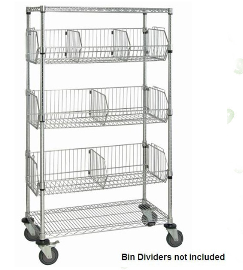 heavy duty nsf 5 tier chrome wire basket shelving rack