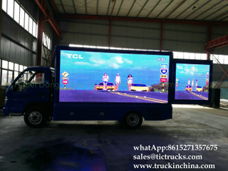 Foton 4x2 LED show mobile advertise truck LHD/RHD