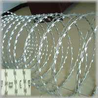 18inch diameter, 32ft long Hot dipped galvanized razor barbed wire