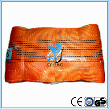10T orange color High tenacity polyester flat webbing sling