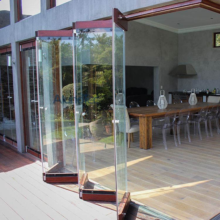 Bi Folding Glass Doors And Aluminum Frameless Bifold Glass
