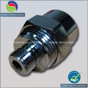 CNC Turned Chrome Part for Pipe Nut Screw (ST13136)