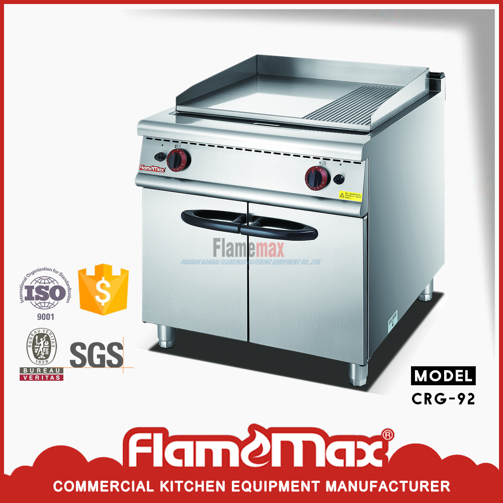 HGG-92 Preferenced Industrial Gas Half-Grooved Griddle with Cabinet ...