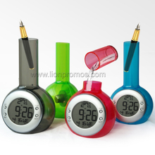 Patented Eco Friendly Multi Functions Water Power Alarm Clock Calender Temerature with Pen Holder XD-788