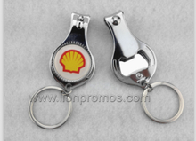 Oil Promotional Gift Custom Logo Stainless Steel Nail Clipper with Opener