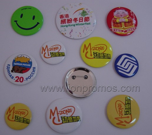 Cheap Campaign Events Giveaways Logo Printed Tin Plate Badge