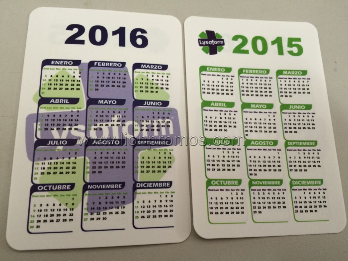 SC Johnson Lysoform Logo Events Giveaways Card Calendar