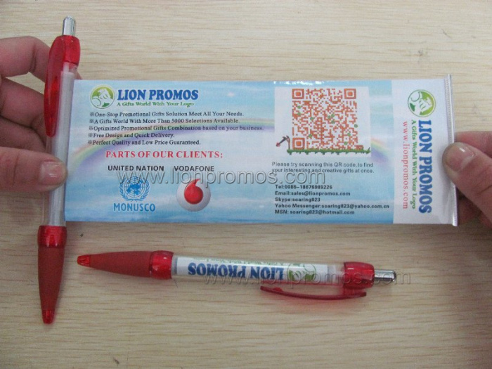 Custom Printing on Bannners Cheap Promotional Gifts Banner Pen