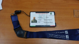 Custom Logo Lanyard with Badge Reel and ID Card Holder