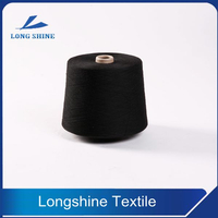 Black Polyester Core Spun Yarn Recycled Grade