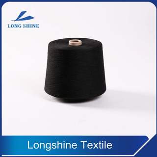 Black Polyester Core Spun Yarn semi-virgin Grade