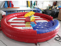 Outdoor Commercial Inflatable Rodeo Bull Game Crazy Bull Game for Adults