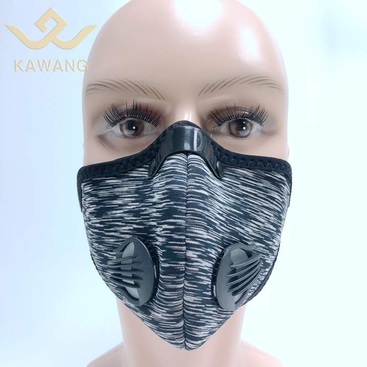 Kawang fashion n95 activated carbon motorcycle safety 3d neoprene elevation gas face shield