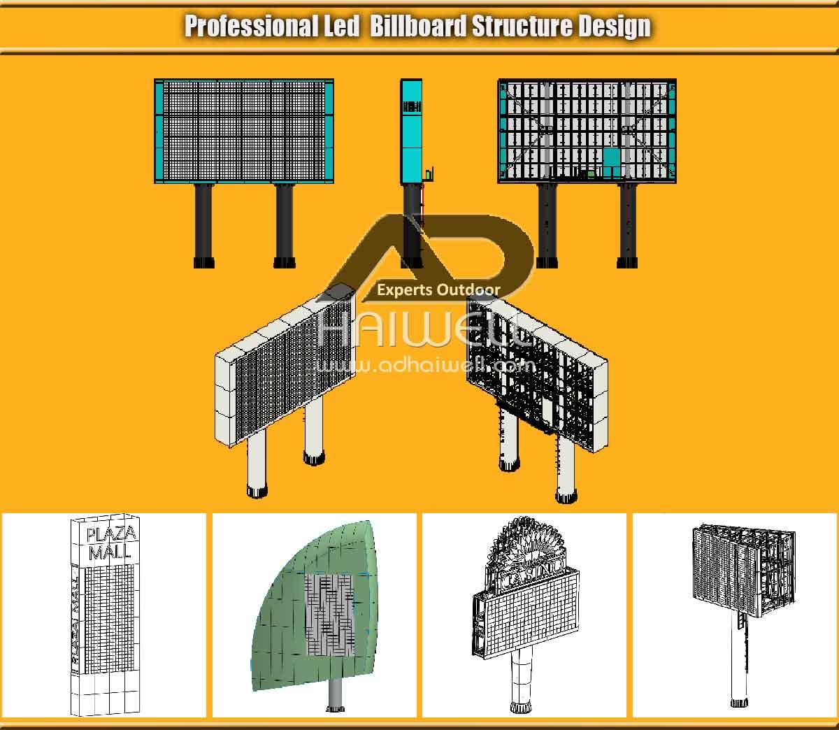 Profesional-LED-Cartelera-Estructura-Diseño