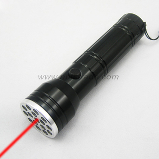 15 LED Flashlight with Laser Pointer