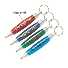 Customized ballpoint pen with print logo and keyring