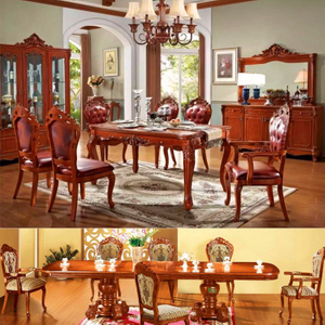 Dining Table and Dining Chair for Classic Dining Room Furniture