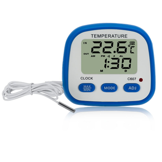 INDOOR/OUTDOOR HYGRO-THERMOMETER CLOCK C607