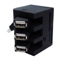 USB Hub Combo with 3 USB Ports and SDHC/TF/Ms/M2 Card Reader Style No. Cr-209
