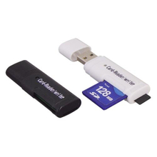 USB SD and TF 2 in 1 Card Reader