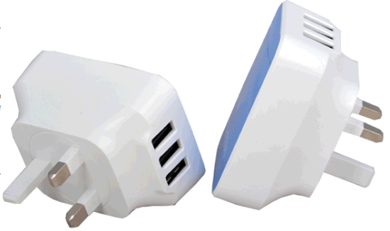 High Quality USB Power Adaptor with 3 USB Ports Output