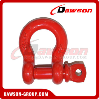 DS758 G8 Screw Type Alloy Braçadeira de arco, Screw Pin Anchor Shackle