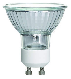 MR16/FL/GU10, 35 Watt, MR16 with UV Glass Cover, 120 Volt, GU10 Base, Halogen Flood Light Bulb
