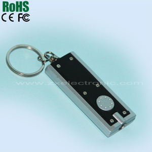 Square shape led keychain light(blue led light)