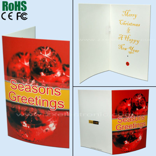 Promotional voice recording greeting card