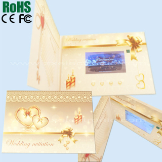 Video player mailable greeting card for promotion on special day