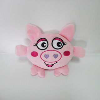 Mini Plush Pig Shaped Sound Chew Squeaker Interactive Pet Toy