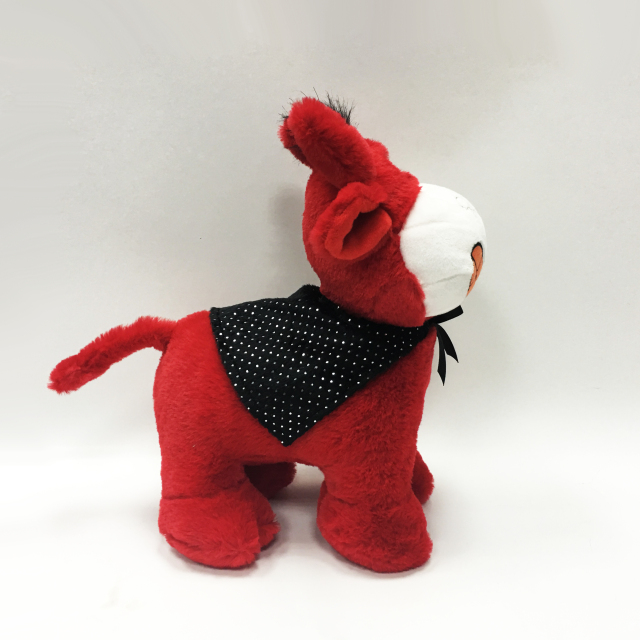 Singing red donkeys with cloak for kids
