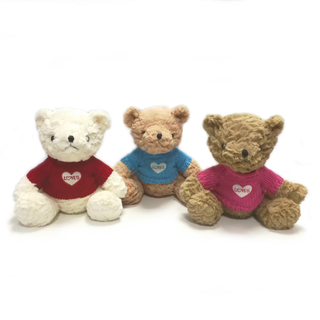Custom Crumpled PV Teddy Bear Dressed Soft Toys