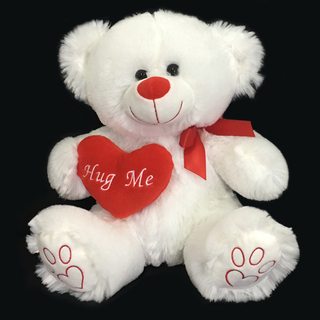 Huge Me Teddy Bears Holds Heart with Love Paw