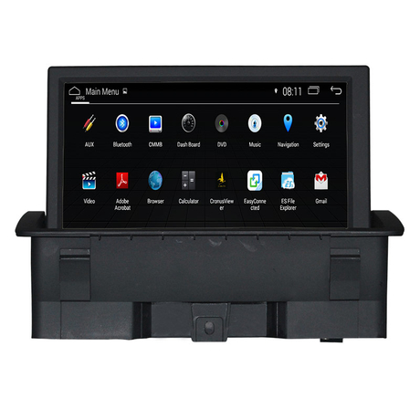 car dvd player Android 2+16G for Audi A1 phone connections navigation gps android wifi connection